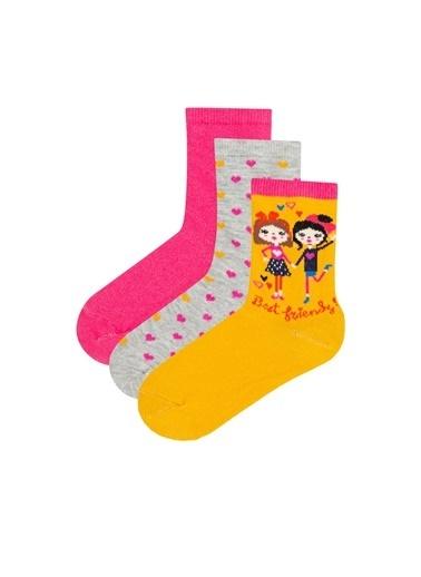 Penti Kız Çocuk Best Friends 3Lü Soket Çorap Renkli